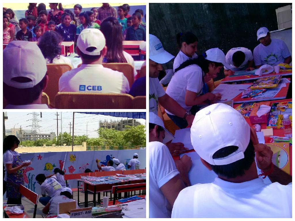 CEB Gurgaon teams kick off #GIW activities after a warm welcome by the kids at SOUL India. @CEBCareers #CEBGivesBack http://t.co/hj9ZygUXUd