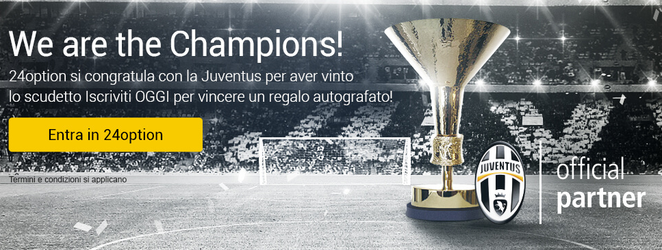 24Option Official Partener Juventus Champions League