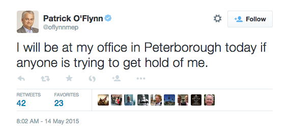 "Just to remind you that ""at my office in Peterborough"" is a well-known euphemism for ""still trying to become leader"". http://t.co/nk3sbsDy7G"