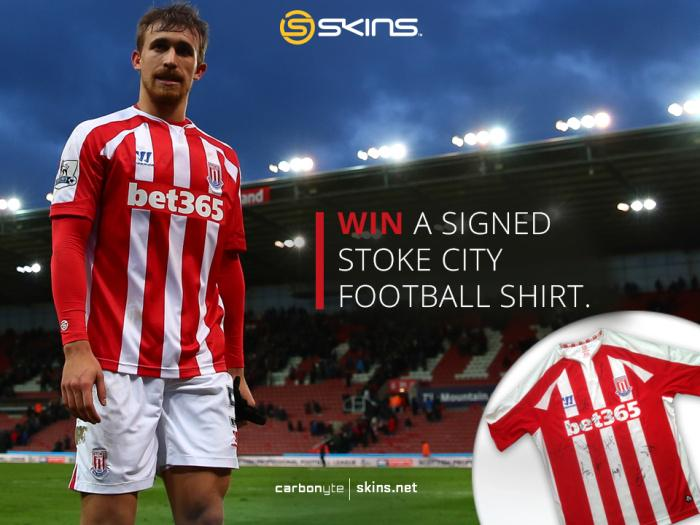 #CompetitionTime – We're giving you the chance to #WIN a signed @stokecity shirt. RT & follow @SKINSGB to enter http://t.co/svDz0pUToA