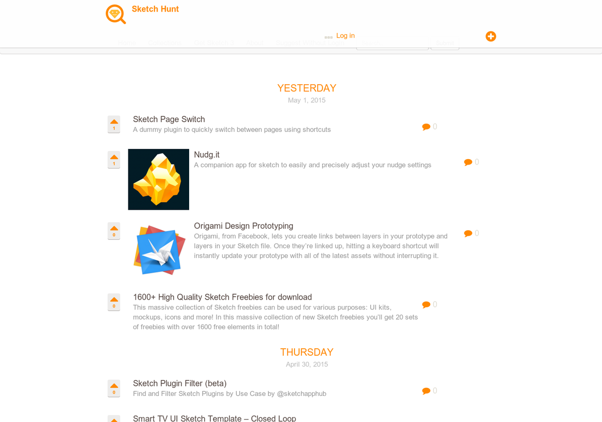 Thumbnail for Product Hunt features Sketch Hunt