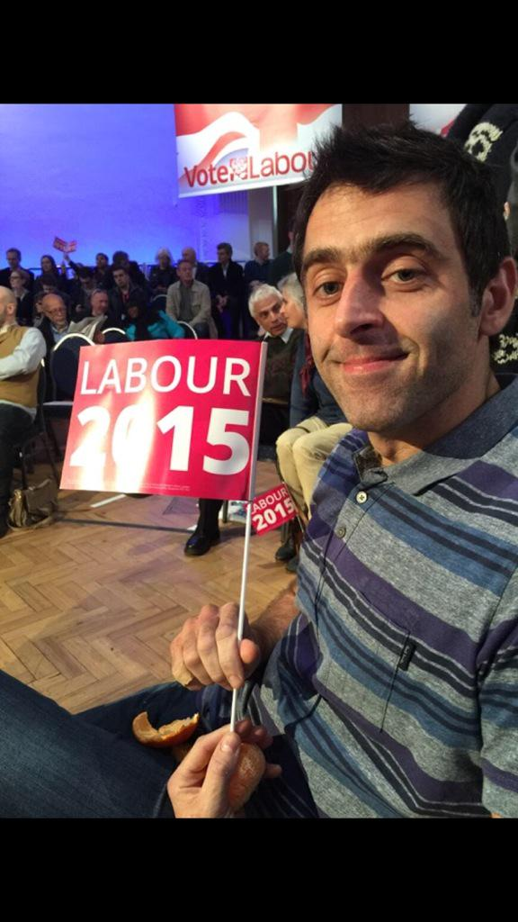 No snooker this weekend but buzzing to be supporting @Ed_Miliband and labour at this years election http://t.co/hI0IJVjX5y