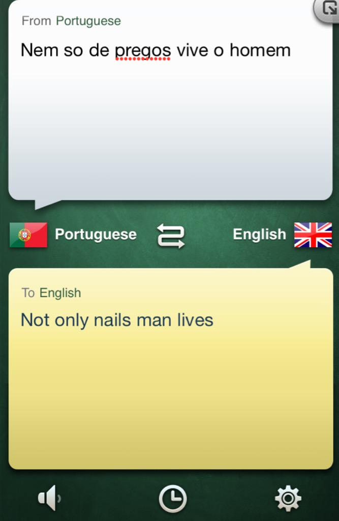 Using the translator app to order in Portugal, nailed it