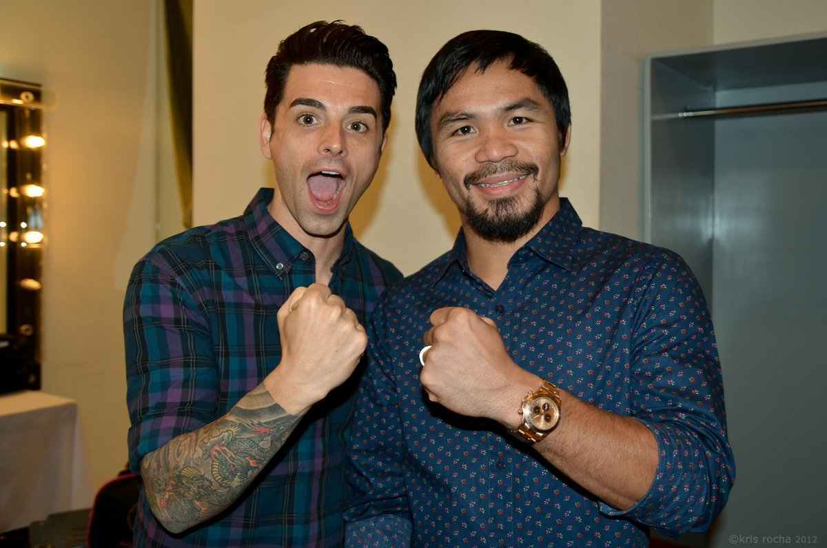 This dude! Best of luck to @MannyPacquiao tonight! http://t.co/WmV8Yz6ege