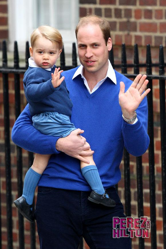 So exciting! RT #PrinceWilliam & #PrinceGeorge arrive at the hospital! #RoyalBaby http://t.co/plEs66Spe7