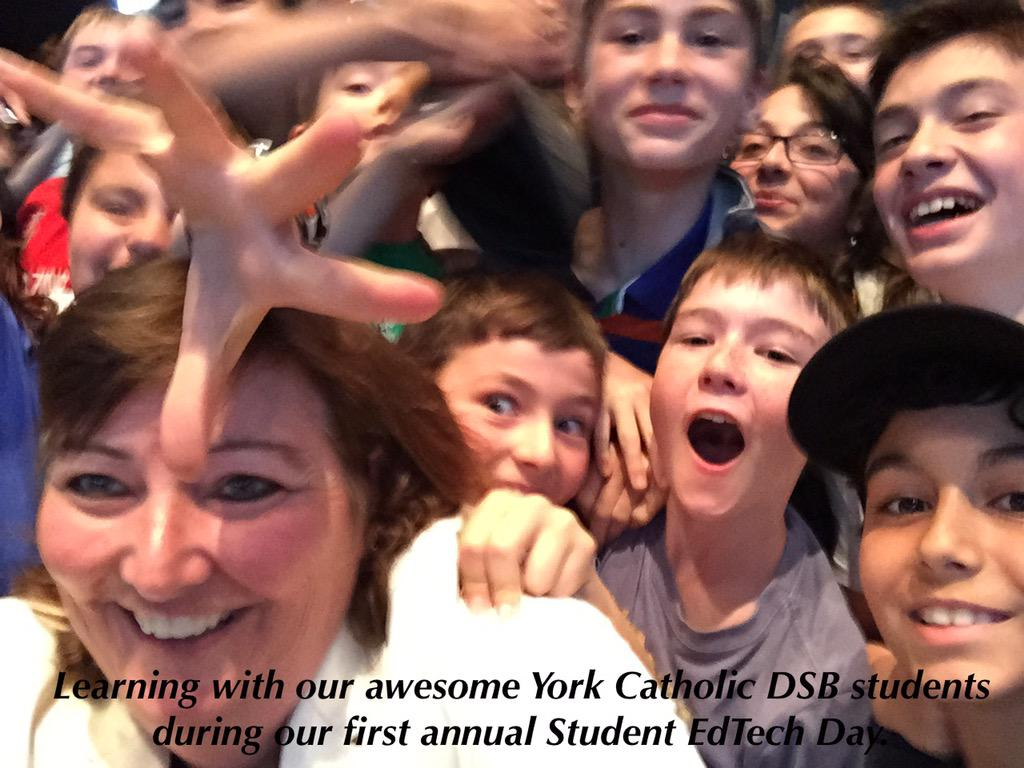"A proud moment learning today at our first annual YCDSB EdTech Day. Thank-you students for being ""Awesome"". #ycdsb21c http://t.co/oA9iGd5X0y"