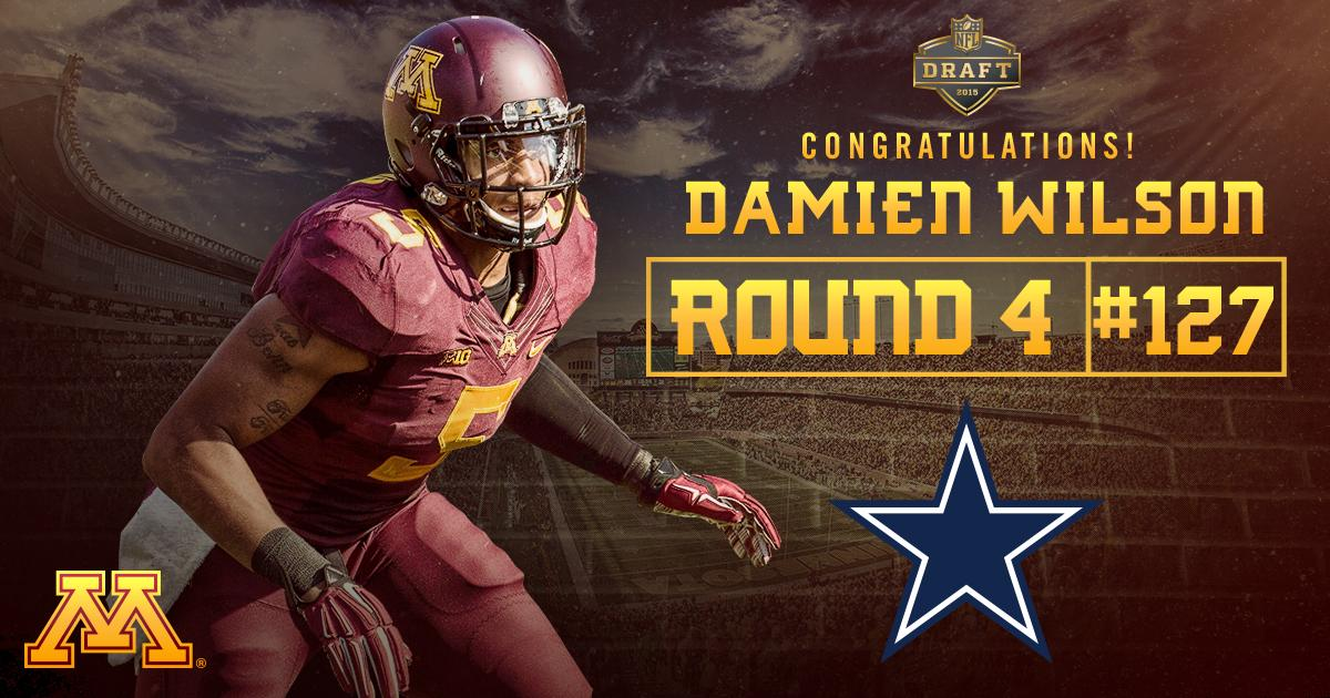 Congrats #Gophers leading tackler Damien Wilson. You are now a member of the @dallascowboys! http://t.co/7Yj8ppijB0
