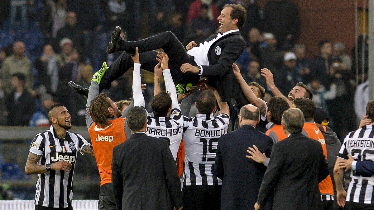 Festa Scudetto Juventus a Genova dopo Samp-Juve 0-1