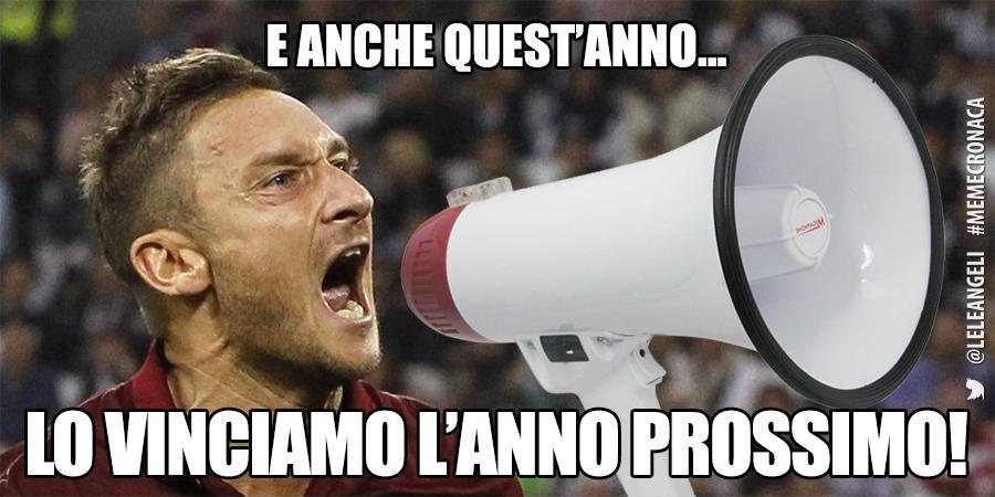 Vignette divertenti Festa Scudetto Juventus: Totti annuncia la vittoria per l'anno prossimo