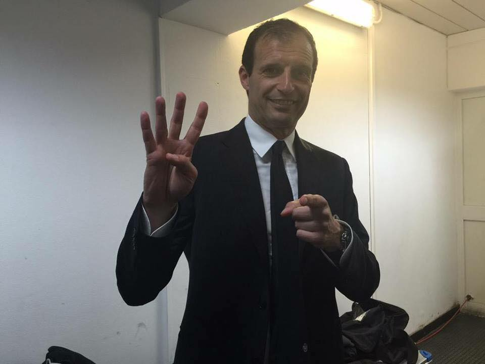 Juventus Campione, mister Allegri uomo record