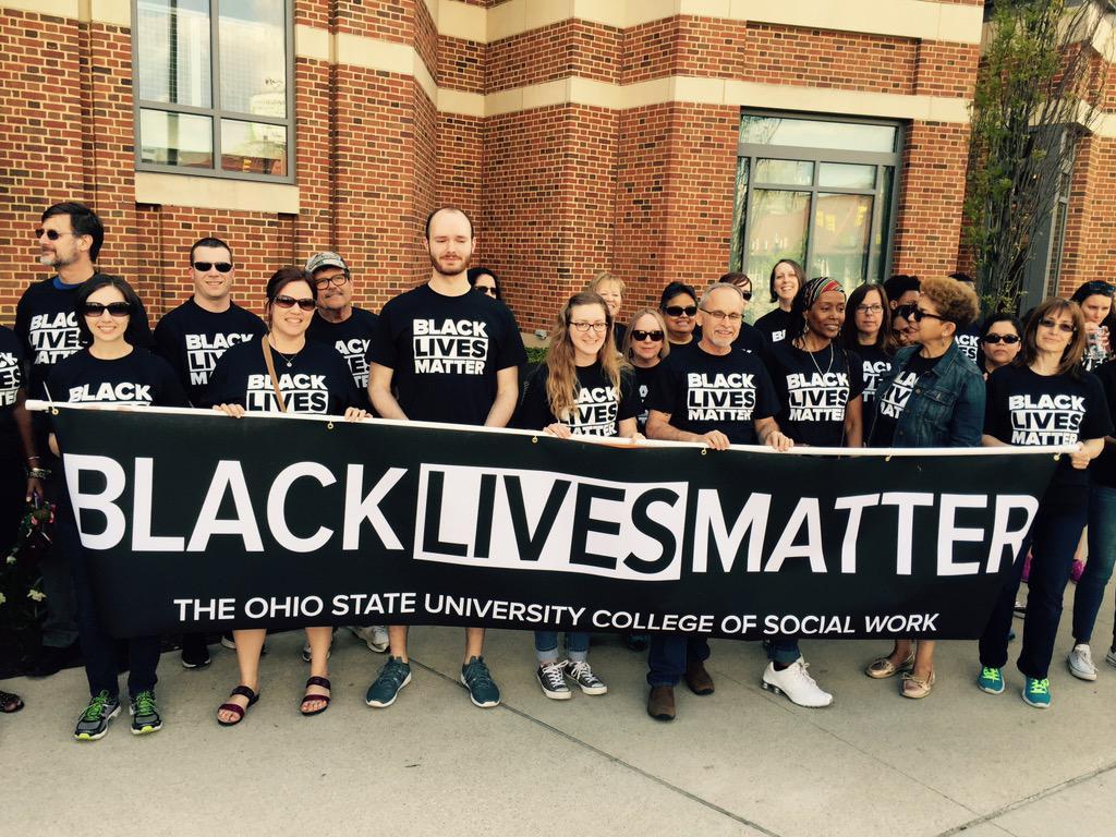 Social Work proudly representing. @OSUCSW #BlackLivesMatter #CBUS2Ferguson http://t.co/NXkQ2BVKoI
