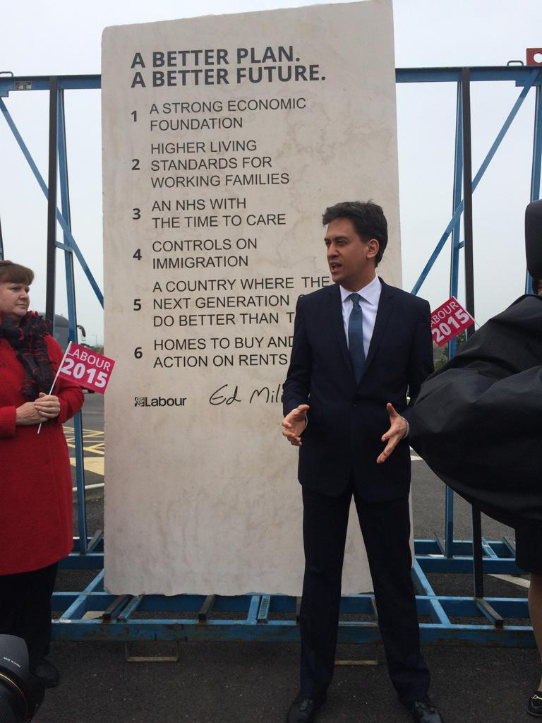 Ed Miliband's stone slab. Labour says will be put up in Downing St garden if they win http://t.co/sQ44clVtYq
