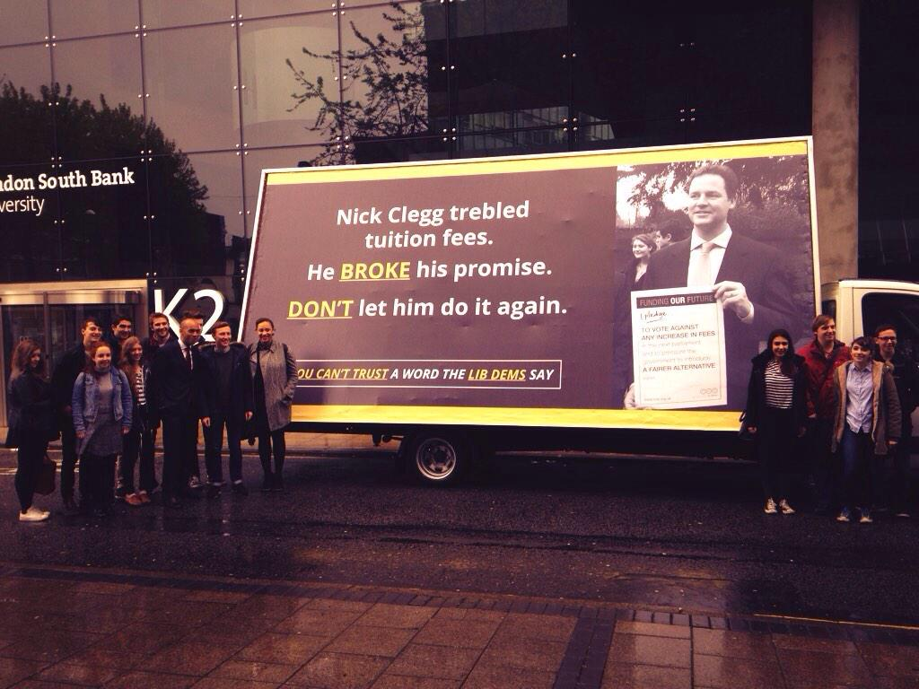 This morning @nick_clegg was challenged 5 times to rule out an increase in fees, 5 times he failed to do so. http://t.co/EnMbkUnCmU