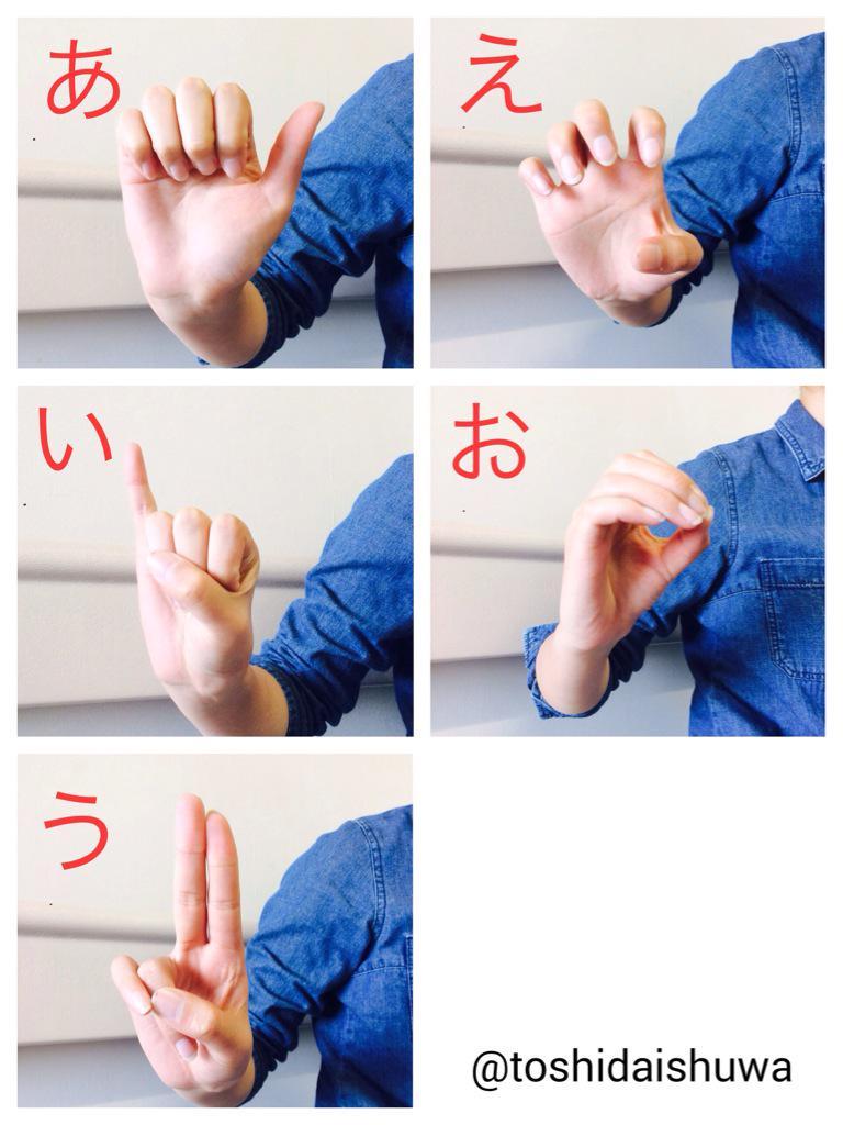 文字 手話 指