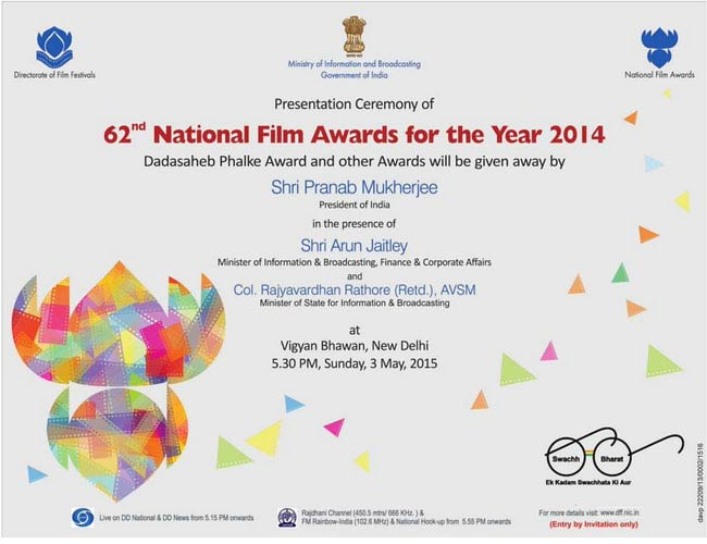 President honours talent at 62nd National Film Awards