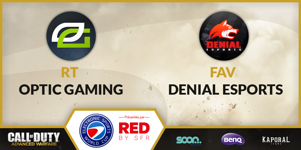 The #ESWC World Final is starting in 15min! RT for @OpTicGaming, FAV for @DenialEsports