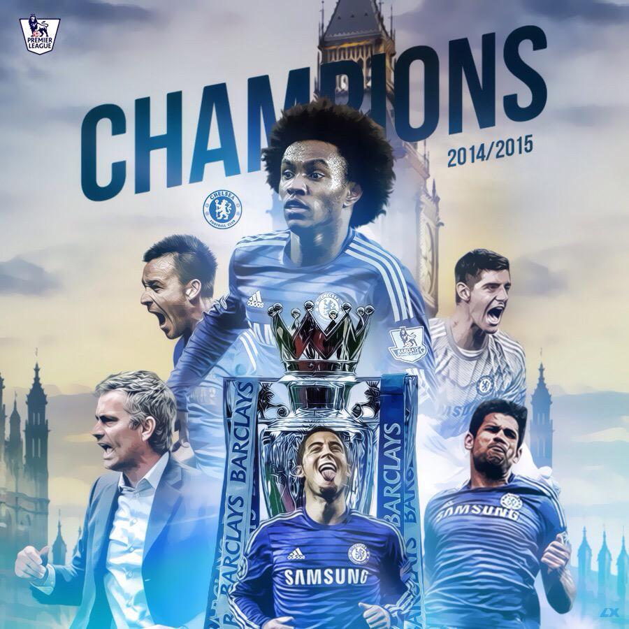 Premier League 2014 2015 Come On Chelsea Champions CFC PremierLeague W22 Tco Uvgm3xZU8z