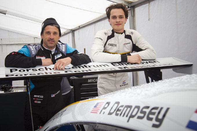 Dempeomd On Twitter Patrick Dempsey With Race Car Driver Max Van