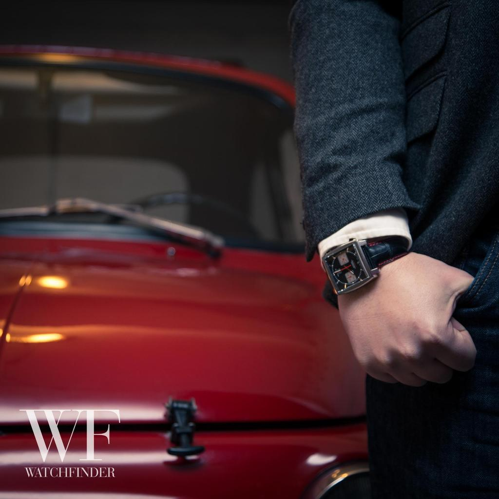 The #TAGHeuer #Monaco squares up to the rounded curves of the 1971 #Fiat500! @CCC_London @TAGHeuer http://t.co/wIEgeX5IOm