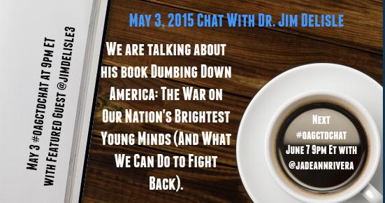 Thumbnail for #oagctdchat May 3, 2015: Author Talk with Dr. Jim Delisle