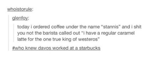 Hahaha RT @LordSnow: King Stannis http://t.co/ZhzY9oggNF