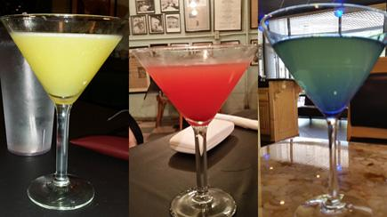 twitpic of some of the colorful martinis we enjoyed this weekend in jackson