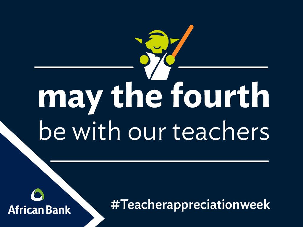 May the fourth be with our teachers... It's Teacher Appreciation Week so #tellUS, who was your favourite teacher? http://t.co/EbvpbcZBcK