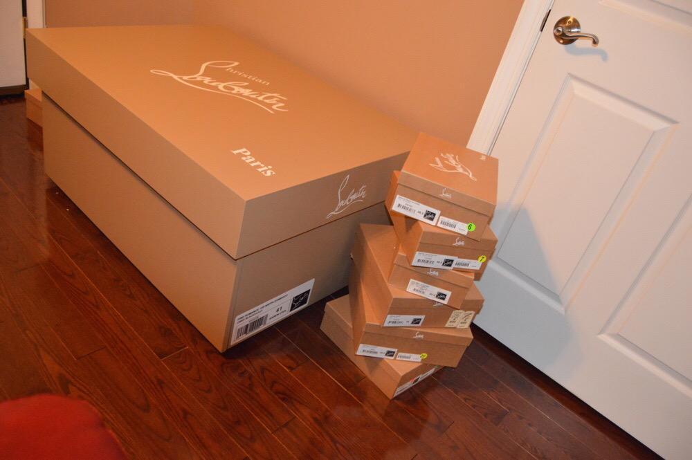 christian louboutin shoe box large