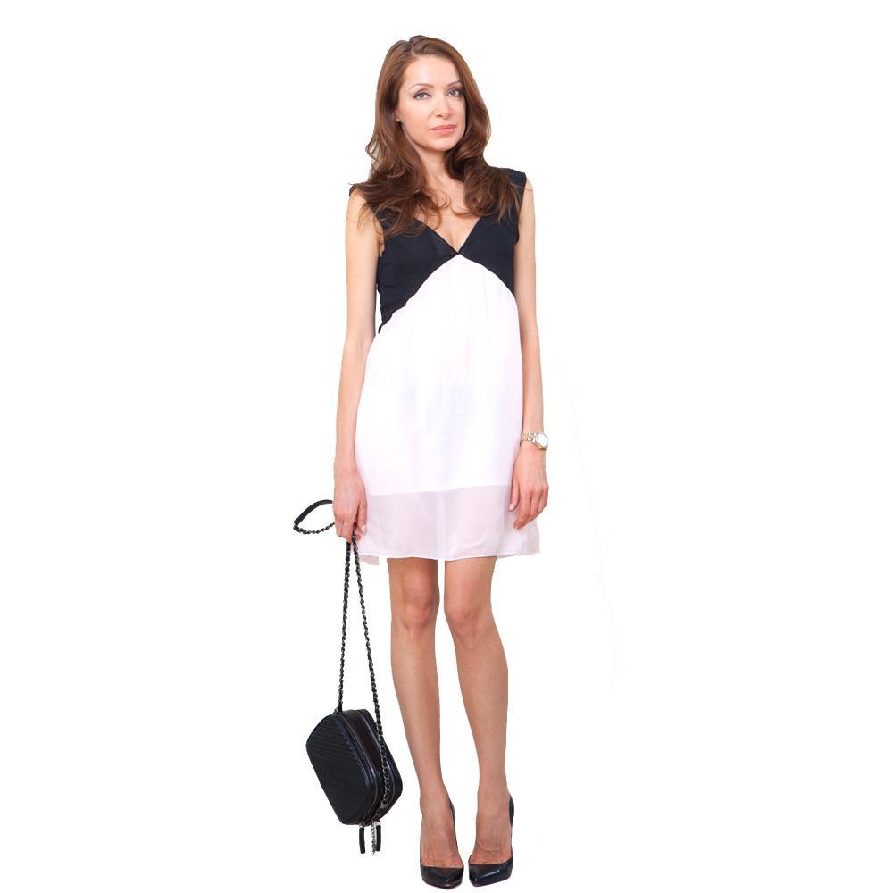 платье белый верх черный низ где выбрать в интернет магазине