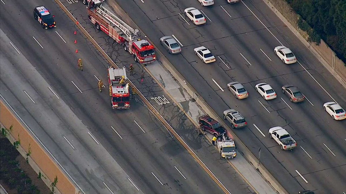405 update: traffic building on 405 fwy in west la after