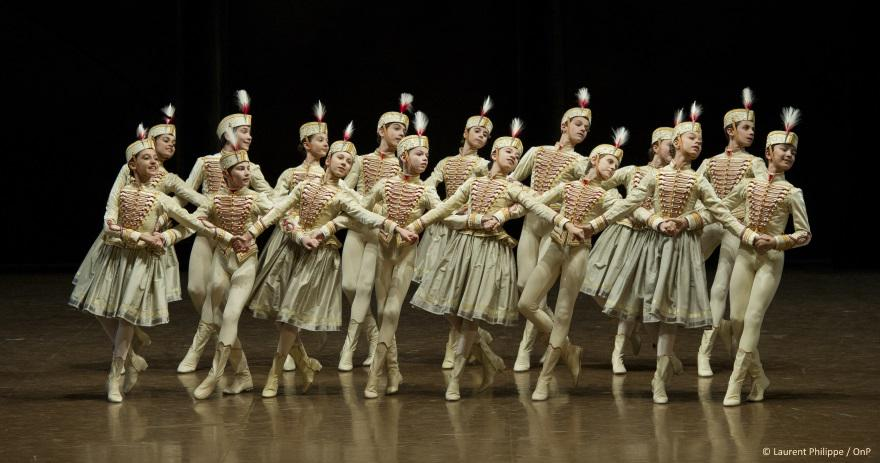 Les élèves de l'Ecole de danse dans la Polonaise (Acte II)