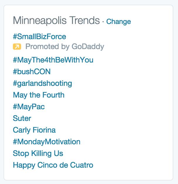 Well, that didn't take long! Let's make it national, folks. #bushCON #trending http://t.co/8Ou3C905BO