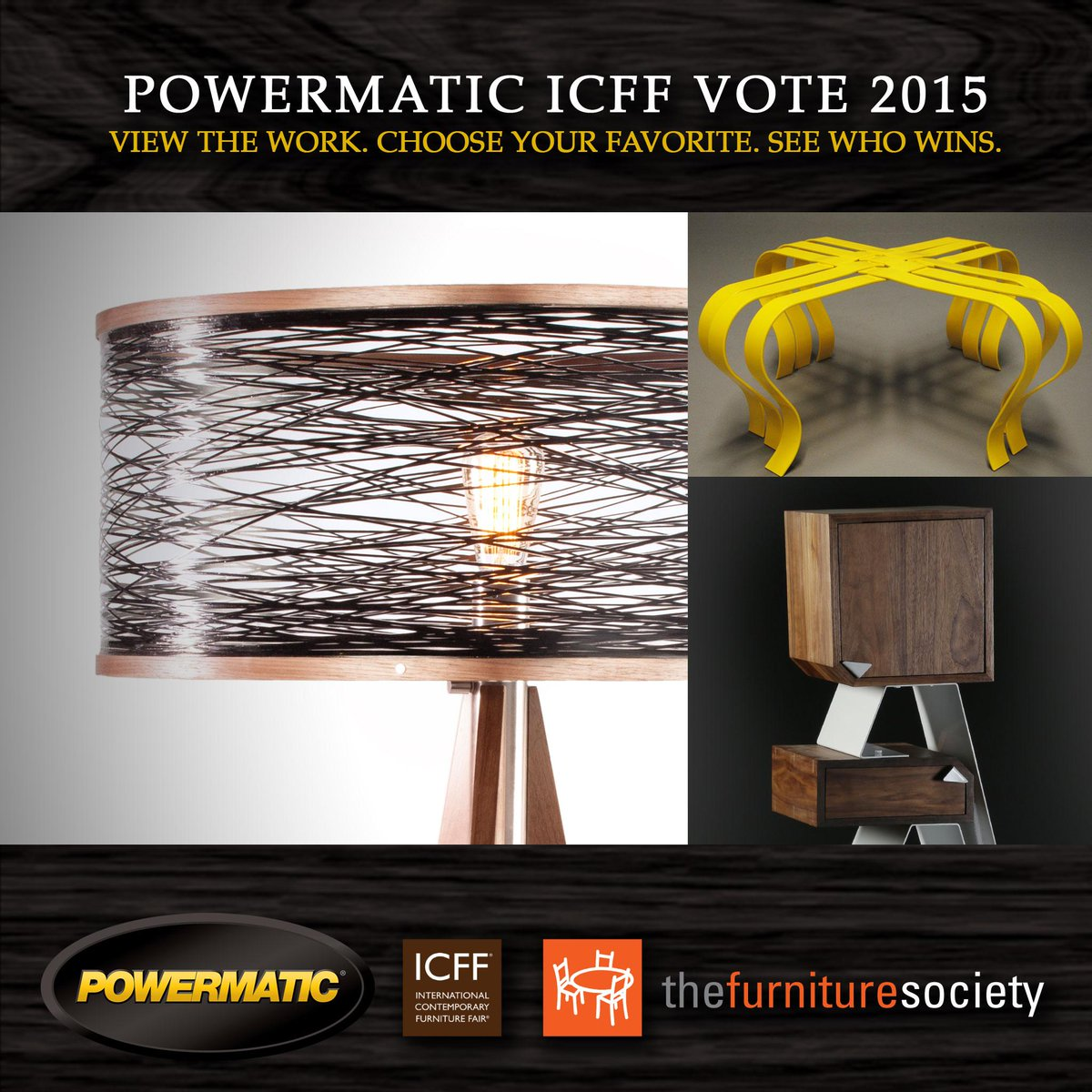 Vote for the #ICFF People's Choice Award now: http://t.co/TkXQOH9kGy We're giving the winner a new PM1500 bandsaw. http://t.co/AcQbUcYzUC