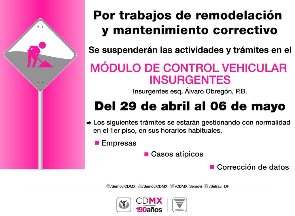 Secretaría De Movilidad Cdmx On Twitter Se Informa El