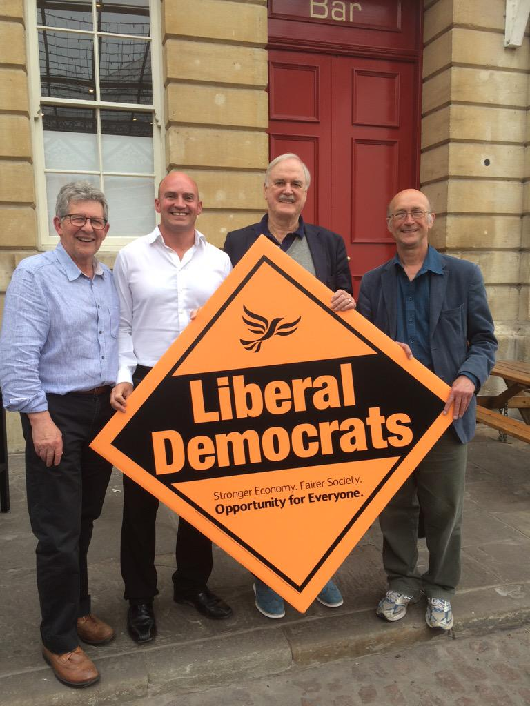 @JohnCleese on brill form supporting @bradley_steve @bathnesld #keepBathLiberal. Just wait for the video! http://t.co/gpzDJJdL63