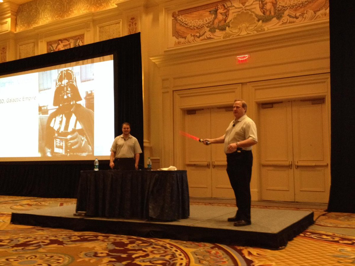 Darth Vader - ultimate CIO - is ready for any galactic disaster with #vplex #emcavailabilityrocks #emcworld http://t.co/rjKDr2qc5d