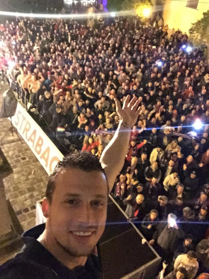 Ivanovski celebrated winning the league with the fans