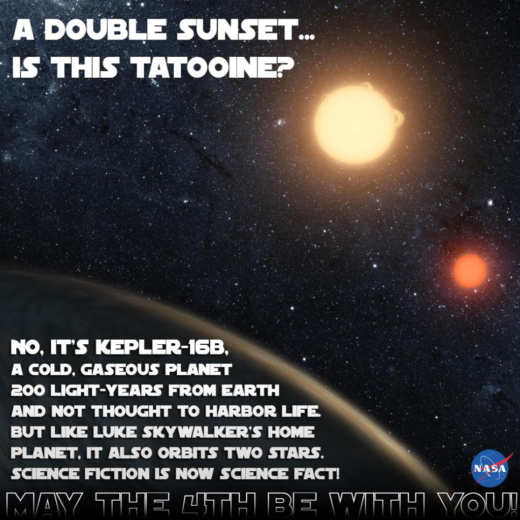 Tatooine? No, it's Kepler-16b, a world with a double sunset. http://t.co/iV91VQnhe1 #MayThe4thBeWithYou @NASAKepler