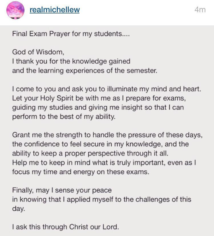 efflorescence on twitter final exam prayer for all