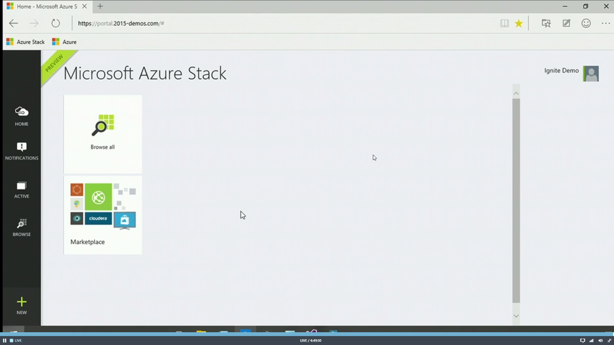 Azure running on-prem. Boom! #msignite http://t.co/ILRDc0R8Z9