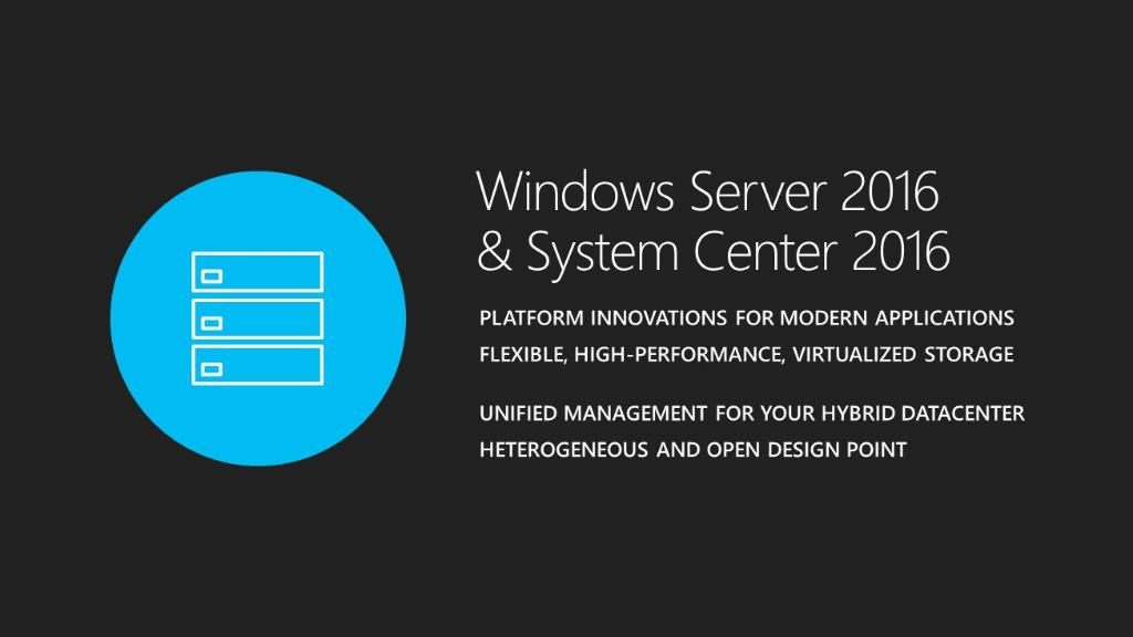 Produktankündigung Windows Server & System Center 2016 Picture by Microsoft Cloud