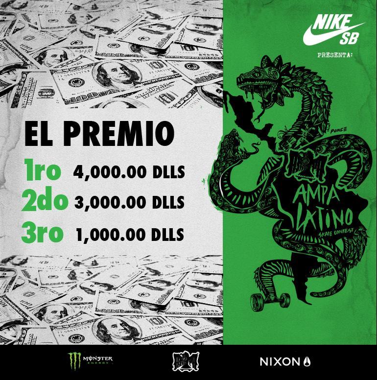 El tlatoani del templo regresará a casa con 4000 mil verdes en la bolsa #AmpaLatino @NikeSBMexico @MonsterEnergyMx http://t.co/4kqRHJrJDT
