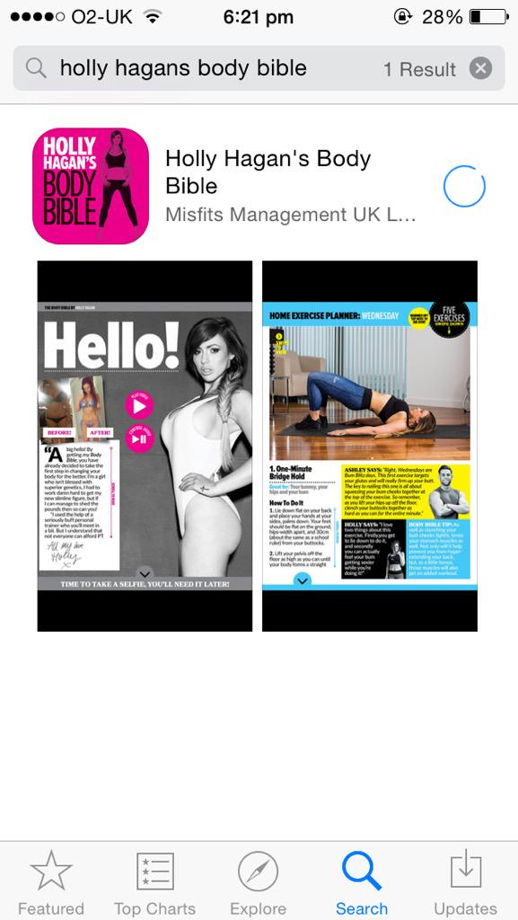 RT @4evergeordie: Downloading @HollyGShore body bible app.. Can't wait😁 #BodyBible http://t.co/TrQXoX2VOr