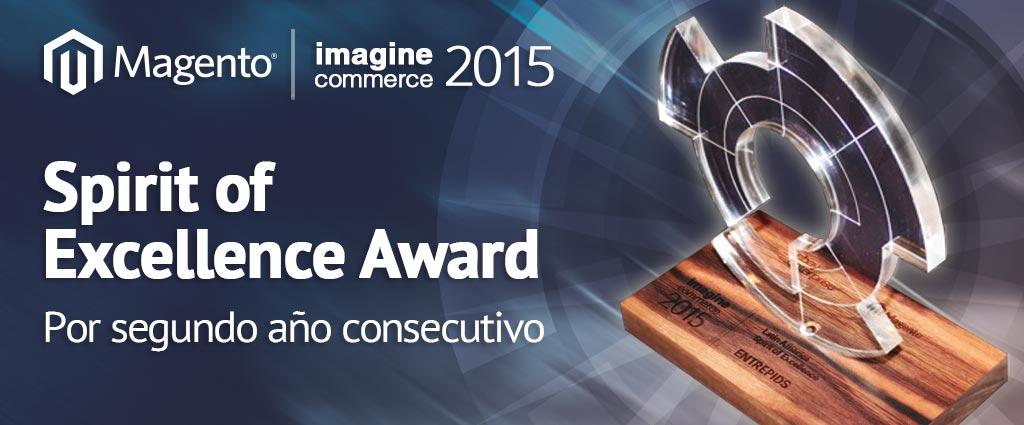 CRMeCommerceSFA: Por segundo año consecutivo, #Entrepids recibe el Spirit of Excellence Award en el #Magento #ImagineCommerce 2015 http://t.co/8DcF9vOB9a