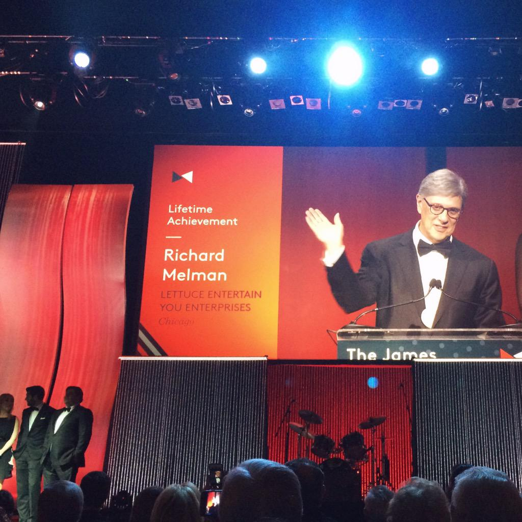 A big congratulations to our Founder Richard Melman for his 2015 Lifetime Achievement Award! #jbfa @beardfoundation http://t.co/wDzGa9Xvn0