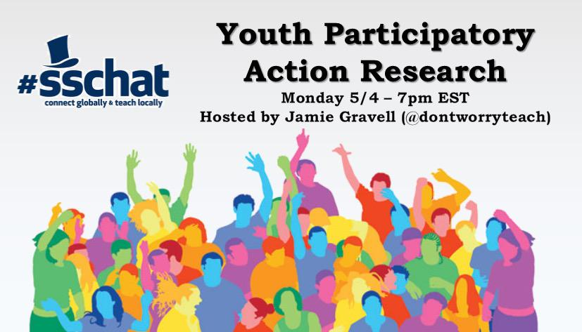 Welcome to #sschat on Youth Participatory Action Research! Pls introduce urself & ur context for teaching/learning http://t.co/Z28LgPO42T