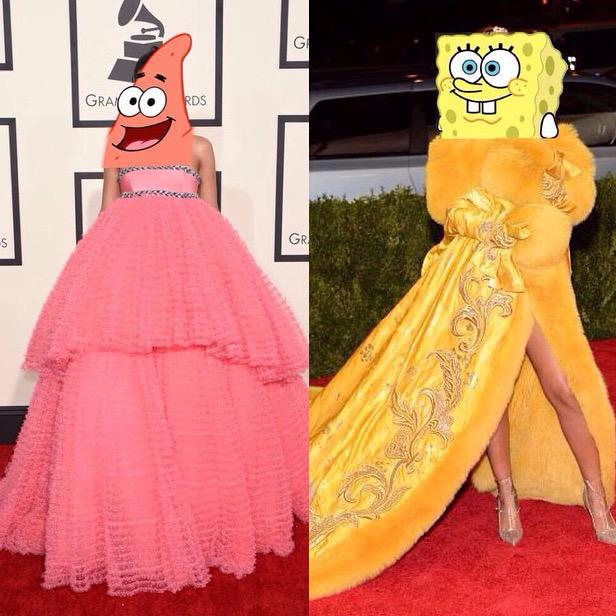 evolution; sponge bob and patrick star 😛😛@rihanna http://t.co/tx9uBHeySU