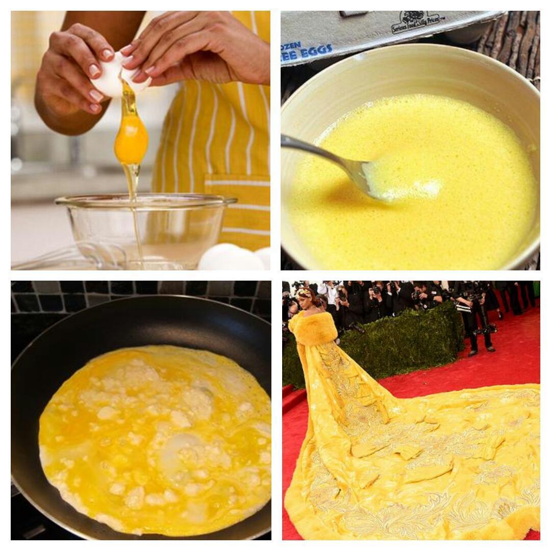 Receita de omelete a La Rihanna #MetGala http://t.co/CAirTPmOrV