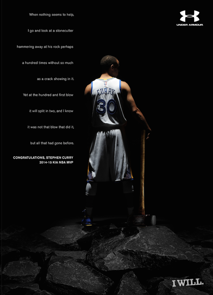 3bd4bc7036c Under Armour s Steph Curry MVP print ad