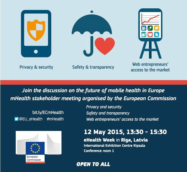 #eHW15: #mHealth Stakeholder Meeting will discuss future of mobile #health - http://t.co/WBqEiCcg8h @EU_eHealth http://t.co/5vVTz8YefC